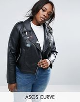 ASOS(エイソス) その他 デニム ASOS CURVE Ultimate Leather Look Biker Jacket with