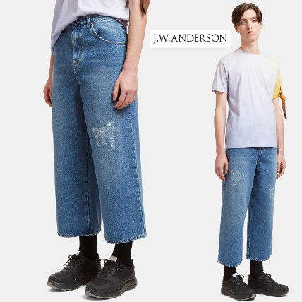 J... W. ANDERSON J. W. Anderson cropped jeans blue