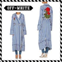 Off-White(オフホワイト) アウターその他 関税送料込【Off-White】Pajama Robe Stripes Multicolor