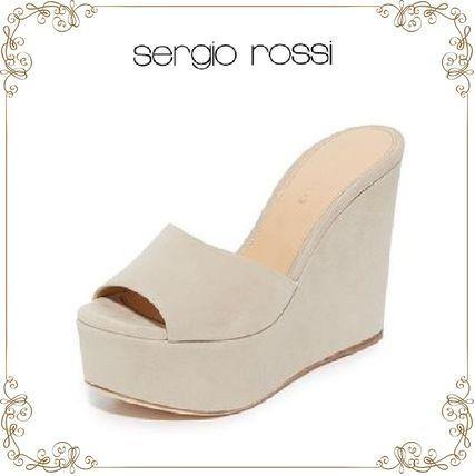 【17SS】 大人気!★Sergio Rossi★Lakeesha suede Sandals