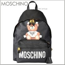 17SS★MOSCHINO テディベア&ロゴ プリント バックパック