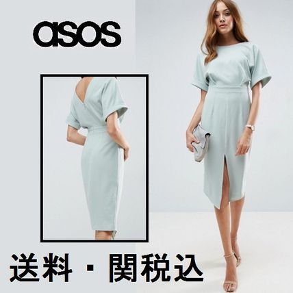 ASOS TALL Smart Woven ミディドレス with V バック