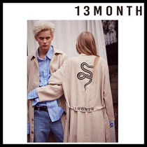 13MONTH(サーティーンマンス) アウターその他 [13MONTH/DHL安心発送] 男女共用 17ss snake embroidery robe