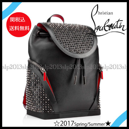 Christian Louboutin バックパック・リュック 17New■Christian Louboutin■Explorafunk Backpack Black関税込