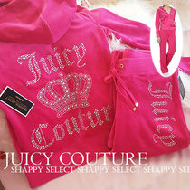 JUICY COUTURE Crown Logo リッチなベロアセットアップ☆
