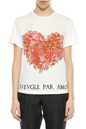 GUCCI Tシャツ・カットソー GUCCI Heart Printed Cotton Jersey T-Shirt(2)