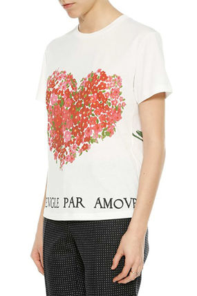 GUCCI Tシャツ・カットソー GUCCI Heart Printed Cotton Jersey T-Shirt(4)