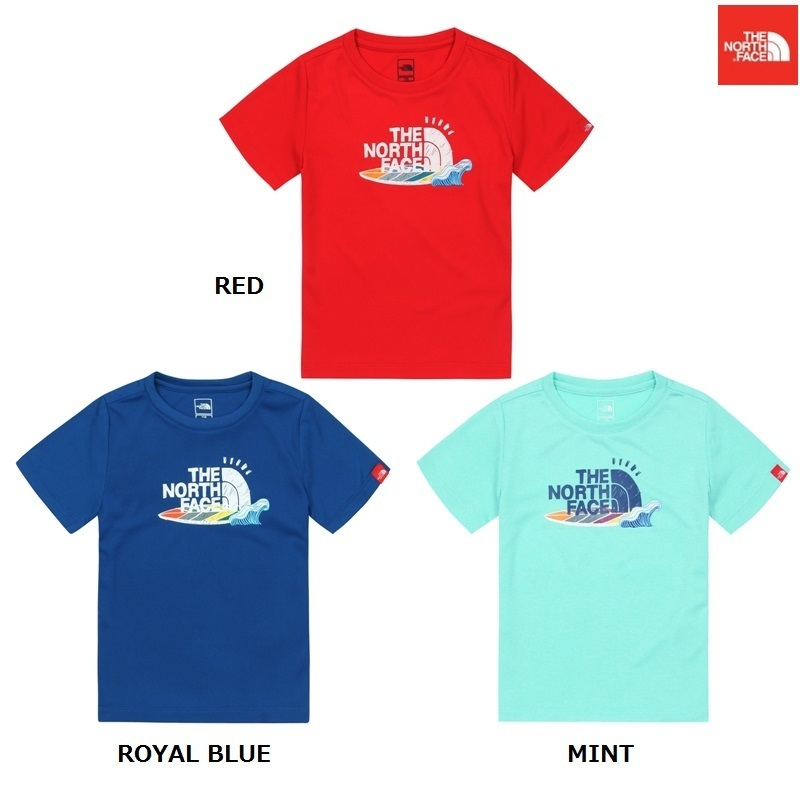【新作】THE NORTH FACE  人気★ Kids EDGE WATER GRAPHIC R/TEE
