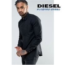 DIESEL(ディーゼル) シャツ Diesel S-LUCIA Embriodered Ruffle Slim Fit Shirt♪