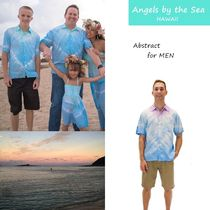 Angels by the Sea Hawaii(エンジェルズバイザシーハワイ) シャツ タイダイ染Abstract Collared シャツ2色☆ハワイ発ブランド A310