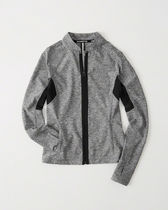 【送料無料】Abercrombie&Fitch  ACTIVE MESH-PIECED FULL-ZIP