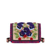 Tory Burch EMBROIDERED FLORAL COMBO CROSS-BODY
