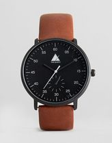 ASOS(エイソス) アナログ時計 ☆国内送関込*エイソス Watch With Distressed Leather Strap 春
