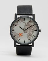 ASOS(エイソス) アナログ時計 ☆国内送関込*エイソス Watch With Moving Aeroplane Second  春