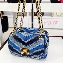 Michael Kors☆vivianne denim shoulder flap☆デニムショルダー