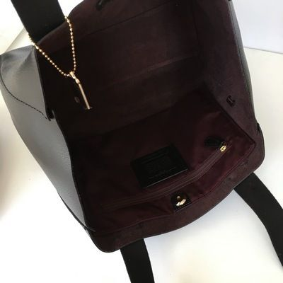 Coach トートバッグ 【COACH】即発☆A4OK!軽量レザーDERBY TOTE F58660☆Saddle☆(10)