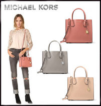 MICHAEL KORS★MERCER MEDIUM BONDED-LEATHER TOTE 国内発送!