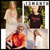 [13MONTH][DHL安心発送]男女共用 roses embroidery t-shirts 4色