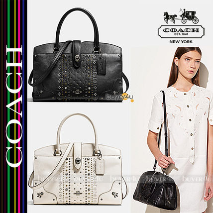 COACH★セール価格☆BANDANA RIVETS MERCER SATCHEL 30 56832
