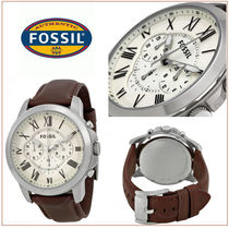 Fossil(フォッシル) 腕時計その他 【国内発/関税込】Fossil Grantクロノ腕時計Brown Leather