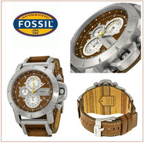 Fossil(フォッシル) 腕時計その他 【国内発/関税込】Fossil Jakeクロノ腕時計Brown Leather