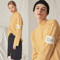 CLIF WEAR(クリフウェア) Tシャツ・カットソー ◇CLIF WEAR◇ HALF TURTLENECK STRIPE TEE (MUSTARD) M / L