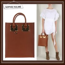 【SOPHIE HULME】Mini Albion bag in saddle leather★国内発送