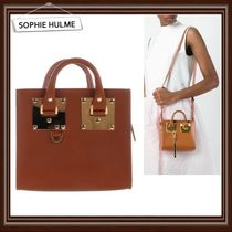 【SOPHIE HULME】Box Albion tote in saddle leather★国内発送