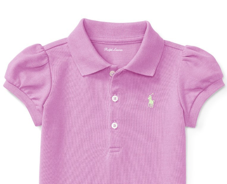 新作♪国内発送 PUFF-SLEEVE COTTON POLO SHIRT girls 0~24M