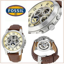 Fossil(フォッシル) 腕時計その他 【国内発/関税込】Fossil  Grant自動巻腕時計Brown Leather