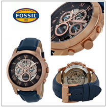 Fossil(フォッシル) 腕時計その他 【国内発/関税込】Fossil   Grant 自動巻腕時計Navy Leather