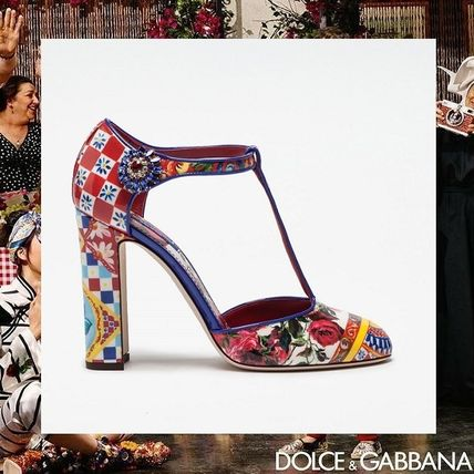 17th SS DOLCE & GABBANA Mary Janes enamels printing