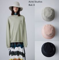 Acne(アクネ) ハット ACNE Buk A beige /pink /black 「A」グロメットバケットハット