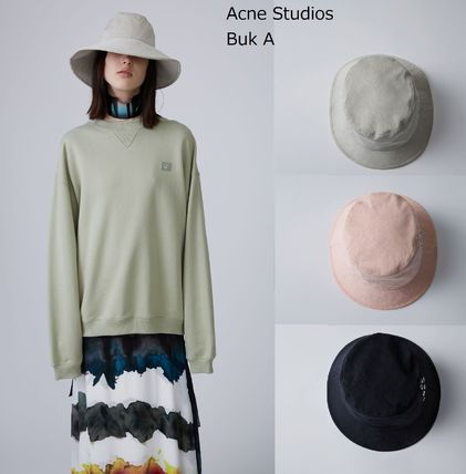 ACNE Buk A beige /pink /black 「A」グロメットバケットハット