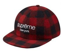 Supreme(シュプリーム) キャップ Supreme★Buffalo Plaid Wool Classic Logo 6-panel