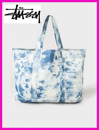 17th SS comes with STUSSY * ACID WASH BEACH TOTE BAG
