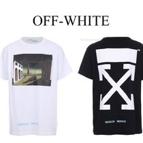 OFF WHITE SILVER CHIRICO Tシャツ 2色 OMAA002S17185