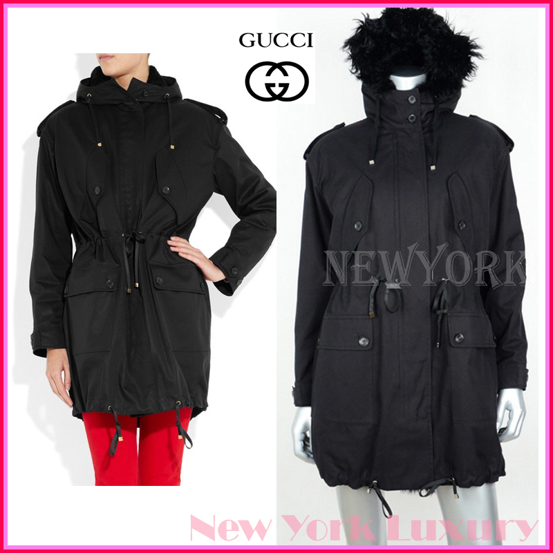 GUCCI★グッチ★素敵!Hooded shearling-lined cotton parka