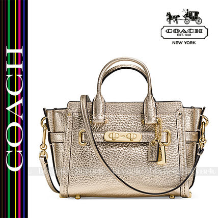 COACH★セール価格☆SWAGGER 15 IN PEBBLE LEATHER 54625