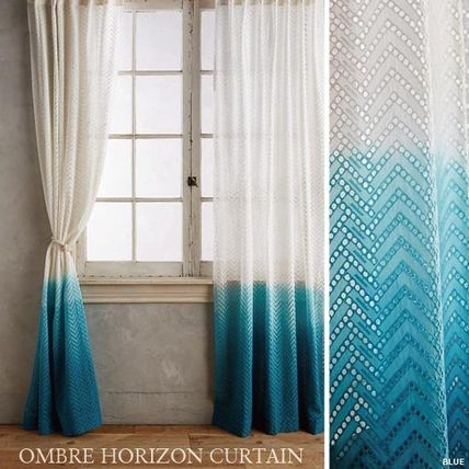 NEW simple modern dye Ombre Horizon Curtain length first OK