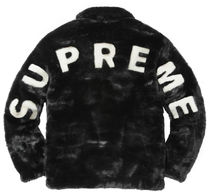 17S/S Supreme Faux Fur Bomber Jacket Black