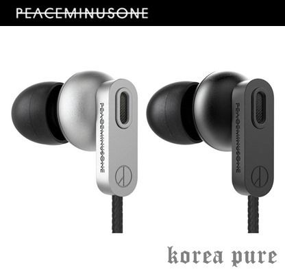 peaceminusone iPhone・スマホケース 【PEACEMINUSONE】G-DRAGON Silver / Black イヤホン☆限定品!