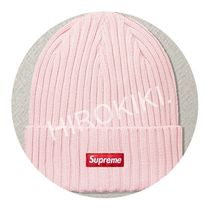 17SS★Supreme Overdyed Ribbed Beanie ニット帽 Pink ピンク