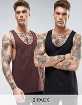 ASOS(エイソス) トップスその他 コスパ◎ ASOS 2 Pack Vest With Extreme Racer Back In