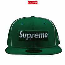 7 3/4 Supreme SS17 Piping boxlogo new era /green