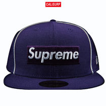 7 1/8 Supreme SS17 Piping boxlogo new era /PURPLE