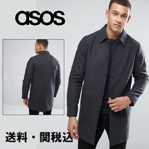 ASOS(エイソス) トレンチコート ASOS Wool Mix トレンチコート In Charcoal