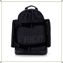 17SS新作【GIVENCHY】キャンバス&レザー ロゴバックパック
