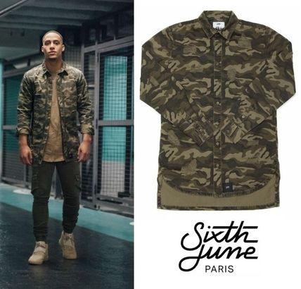 Buddha from Sixth June Oversize denim destroy t-shirt Camo