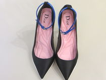 Dior shoes ◆Silk w/ankle leather stripe◆
